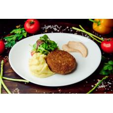 Домашние котлеты из говядины с картофелем