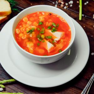 Гороховый суп с копченностями индейки