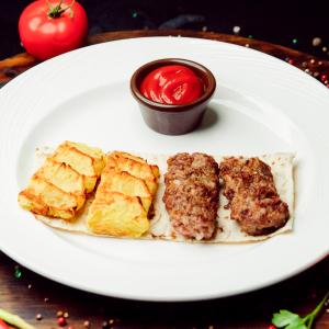Люля  кебаб  и люля из картофеля