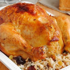 Курица домашняя фаршированная