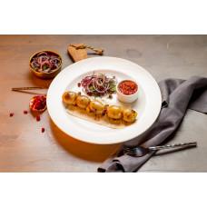 Картофель запеченный с курдюком