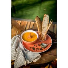 Тыквенный суп пюре с креветками